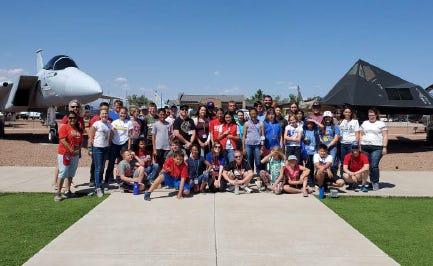 GEMS participants from Las Cruces and El Paso enjoying Holloman Air Force Base