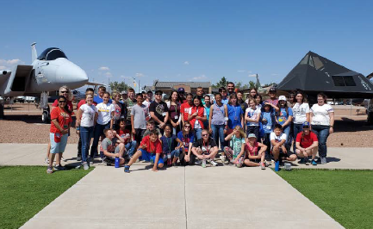 GEMS participants from Las Cruces and El Paso enjoying Holloman Air Force Base