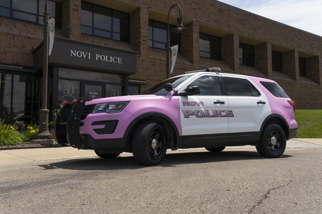 Novi residents may notice this police vehicle raising awareness for breast cancer in the upcoming months.