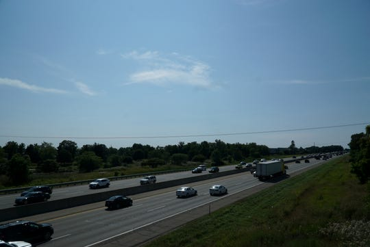I-96 in Novi near Old Plank Road on Aug. 2, 2019.