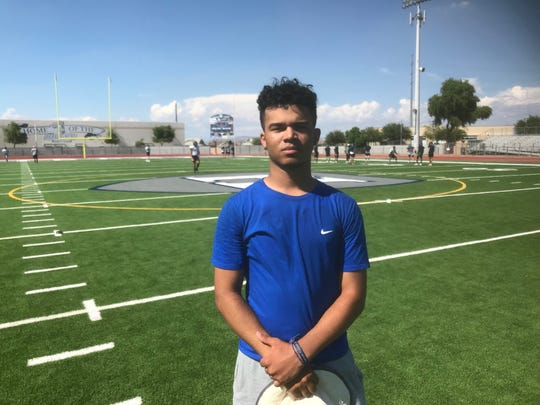 Higley's Marcus Edwards hasn't been able to play football since suffering two strokes and undergoing two brain surgeries, but that hasn't stopped him from being a part of the team.