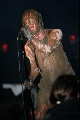 Trent Reznor of Nine Inch Nails performs at Woodstock '94.