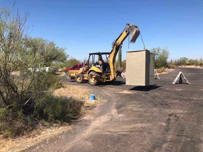 New electric boxes are being installed in Usery Mountain Regional Park as part of an electrical upgrade. New lights are also being installed at the archery range. The range will be closed for two months and some areas of the campsite will be blocked off.