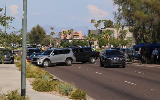 A man who was being followed by a U.S. Marshals Task Force shot himself after being surrounded by police in Scottsdale on Aug. 2, 2019, officials say.