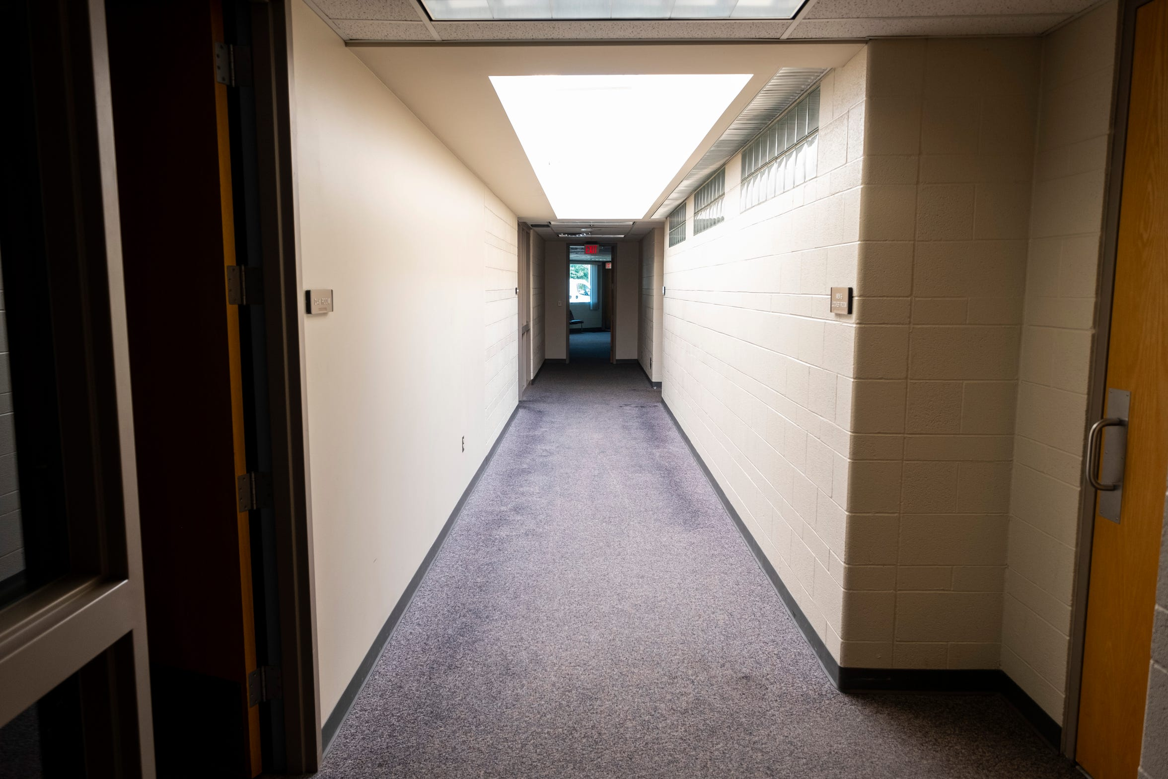 Carpeting in parts of the Marysville Public Safety building is planned to be replaced with polished concrete.