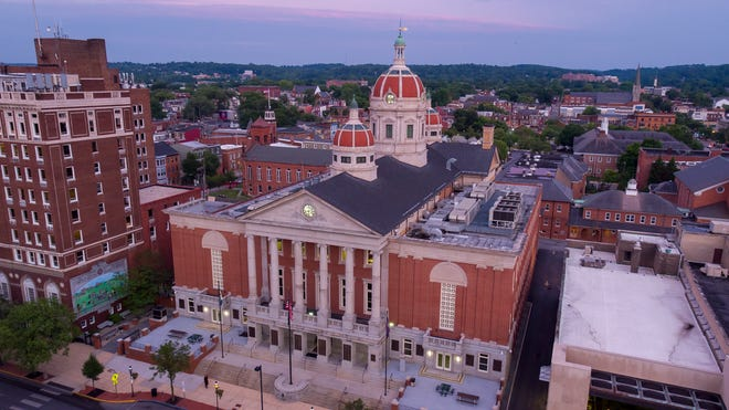 County Administrations building getting dome lights for York's 270th birthday. The three Florentine domes will be lit the evening of August 19.Submitted photo