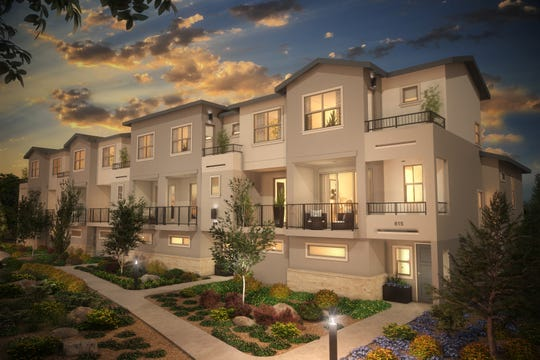 Artist's rendering of the Esprit Townhome Apartments project in south Reno.
