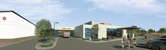 Artist's rendering of Northern Nevada Medical Center's ER at McCarran NW facility.