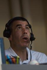 Aces radio announcer Ryan Radtke is one of the longest-tenured employees