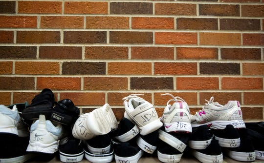 The Juvenile Detention Center provides shoes for juveniles.