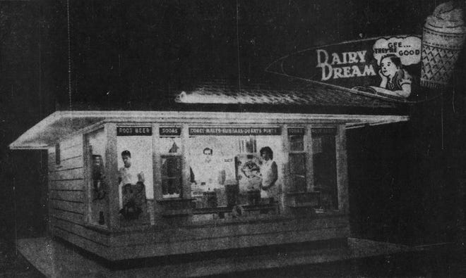 The image is of the Brown family before the opening of the Dairy Dream in the early 1950s.
