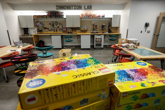 Inside the Innovation Lab at the new Willard Intermediate School.