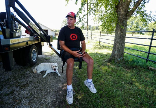 Doug Boswell, 54, who is paralyzed from the waist down, talks about the ATV accident that led to his paralysis on Tuesday, July 30, 2019.