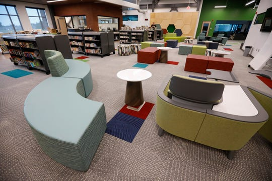 A look at the library at the new Willard Intermediate School.