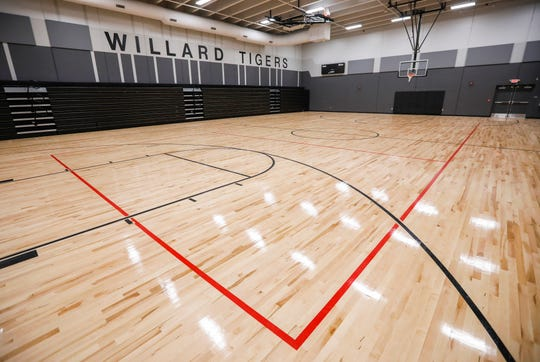 The gymnasium at the new Willard Intermediate School, which is located at 630 S. Miller Ave.