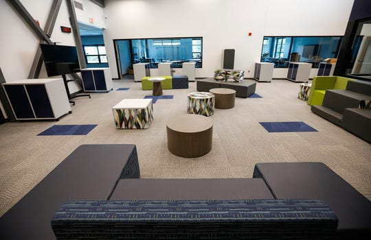 There are plenty of alternative seating areas throughout the new Willard Intermediate School.