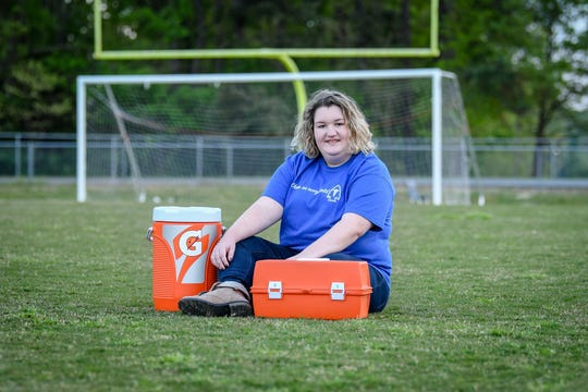 Hailey Green was a student assistant on the Fort Defiance athletic training staff for all four years of high school.