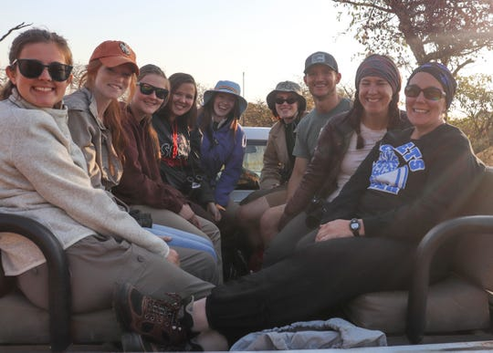John Solberg (third from right) served as a chaperone on a conservation research trip in South Africa from June 15-29. He worked with students from Cambridge-Isanti High School.
