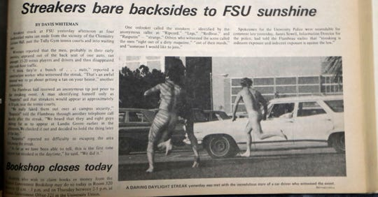 An article in the Jan. 16, 1974 edition of the Florida Flambeau.