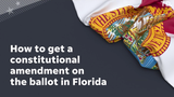 Petitions, signatures, reviews and more all have to happen before an amendment goes onto a statewide ballot.