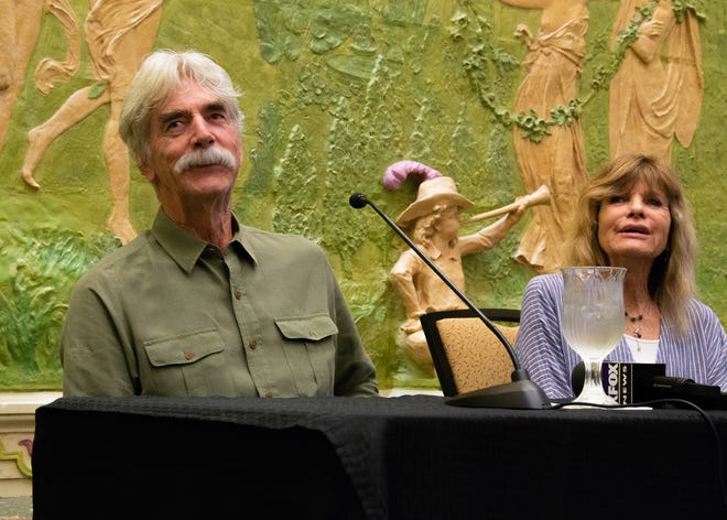 """Academy Award nominee Sam Elliott and his wife Katharine Ross answered questions from the media Friday, August 2. The couple will appear for on-stage interviews before a 50th anniversary screening of """"Butch Cassidy and the Sundance Kid"""" at the plaza theater."""