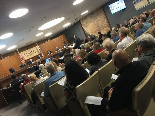 The Oxnard Council Chambers was packed on Thursday night for the Planning Commission meeting on short-term rentals.