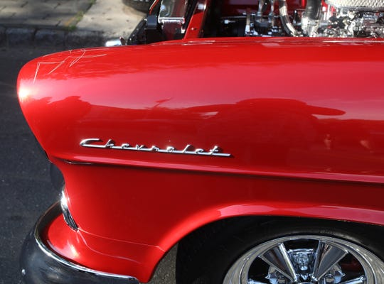"""Nyack's Classic Car Night featured specialty vehicles like the 1966 Adam West Batmobile, Creepshow Horror Hearse, """"Eleanor"""" Shelby Mustang from Nicholas Cage's film Gone in 60 Seconds, and the Mystery Machine on Main Street in Nyack on Aug. 1, 2019."""