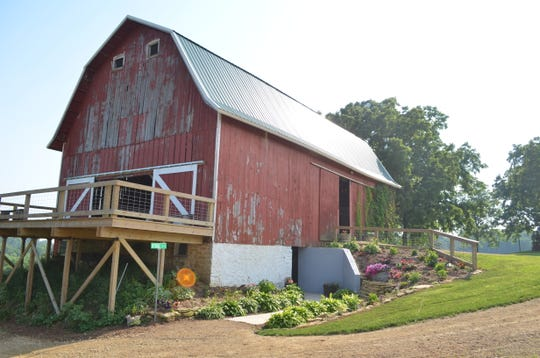 Pheasant Valley Barn is nestled in 250-acres of rolling hills and valleys of Green County southwest of Brooklyn and is enhanced with beds of wildflowers, annuals and perennials.