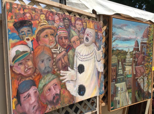 Paul Emory is one of many artist who have their work on display this weekend at Zane's Landing during the Y-Bridge Arts Festival.