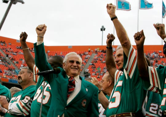 The 1972 Dolphins stand alone in history thanks to their perfect mark, but they finish No. 5 in USA TODAY Sports' assessment.