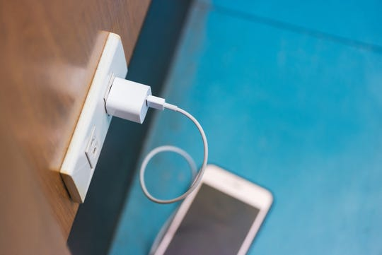 Cell phone, charging cable and wall charger