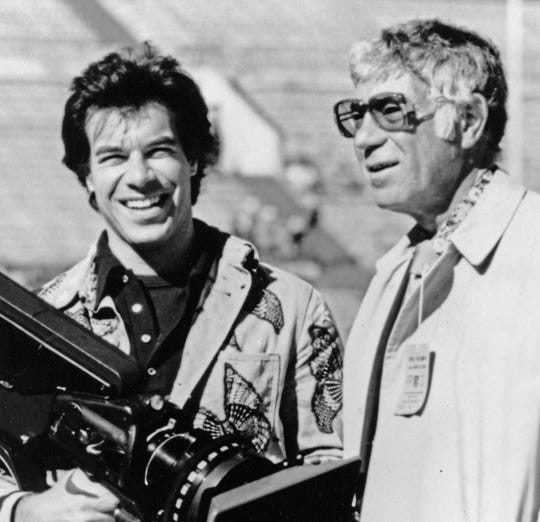 NFL Films founder Ed Sabol (right) and his son, Steve, revolutionized sports broadcasting.