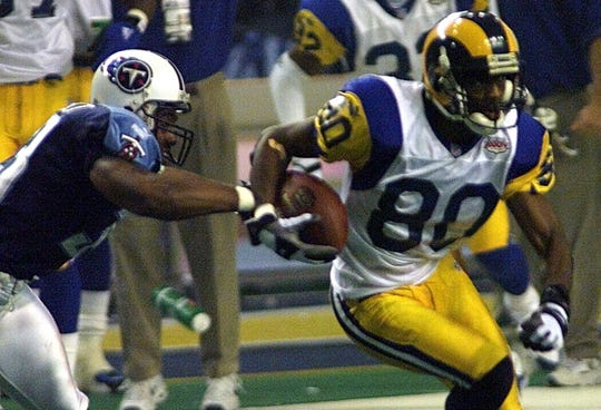 Isaac Bruce scored the winning touchdown in Super Bowl XXXIV.