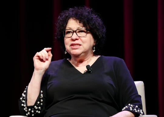 Supreme Court Associate Justice Sonia Sotomayor discusses her life story and her new book during an event at George Washington University in March.