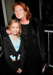 Courtney Kennedy Hill and daughter Saoirse Kennedy Hill attend the Speak Truth To Power Memorial Benefit Gala at Pier Sixty, October 6, 2006 in New York City.
