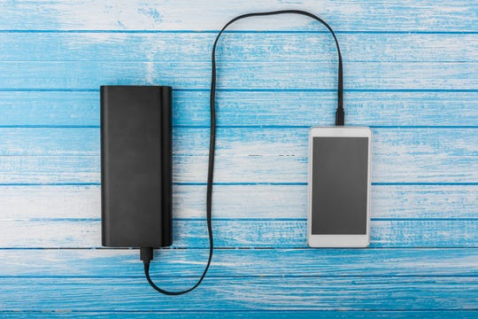 Portable USB charger. Watching hours of your favorite TV show is sure to drain your battery life, and there's nothing worse than finally finding a Wi-Fi spot only to have your phone die.