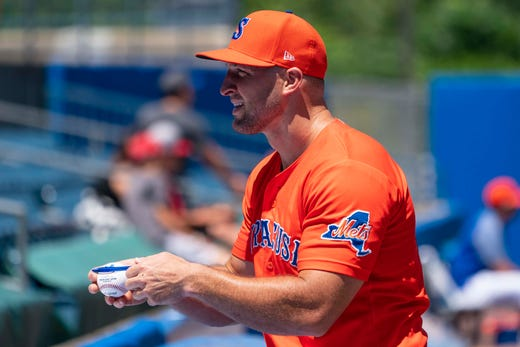 new style ccca7 e2fa3 Tim Tebow's minor-league season with Mets over due to injury ...