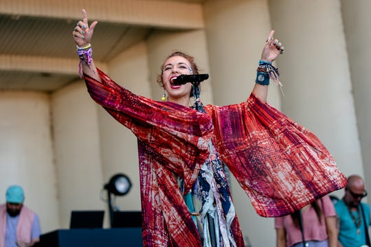 CHICAGO, ILLINOIS - AUGUST 01: Lauren Daigle performs at the 2019 Lollapalooza Music Festival at Grant Park on August 01, 2019 in Chicago, Illinois. (Photo by Josh Brasted/FilmMagic) ORG XMIT: 775366081 ORIG FILE ID: 1165657832