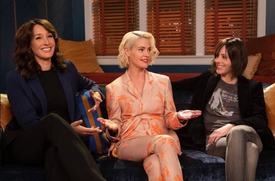 "Jennifer Beals, Leisha Hailey and Katherine Moennig on ""The L Word: Generation Q."""
