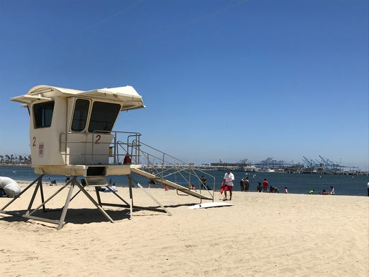 The inner part of Cabrillo Beach in Los Angeles County is listed in Environment America's report as the dirtiest among California beaches.