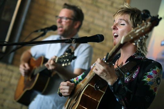 Moody Little Sister performs at Lou's Brew Cafe & Lounge during the third day of Mile of Music on Aug. 3 in Appleton.