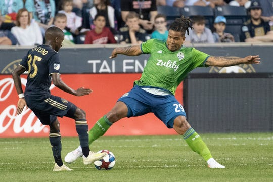 Seattle Sounders defender Roman Torres was handed a 10-game suspension this week. He'll miss his first game Sunday as the Sounders take on Sporting Kansas City.