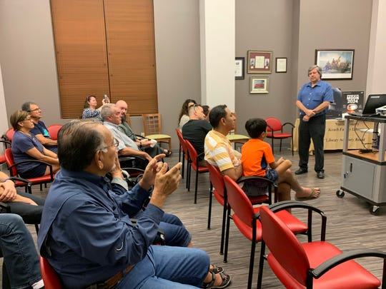 The Robstown community had a chance to meet and greet two NASA engineers at the Back to the Moon presentation at the Nueces County Keach Library on Saturday, Aug. 3, 2019.