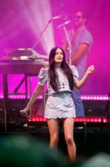 Kacey Musgraves performs during the Hinterland music festival in St. Charles Friday, Aug. 2, 2019.