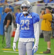 Darius Slay practices Aug. 2 at Ford Field.