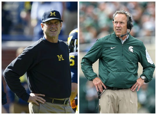 Michigan's Jim Harbaugh and MSU's Mark Dantonio.