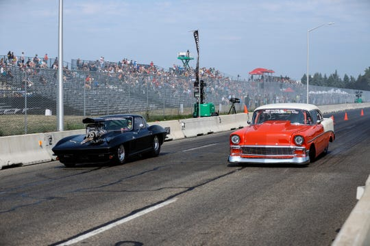 Amateur drag racers competed on a closed section of Woodward Avenue near the M1 Concourse in Pontiac during last year's Roadkill Nights Powered by Dodge.