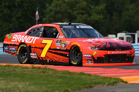 NASCAR Xfinity Series driver Justin Allgaier (7) during the Zippo 200 at The Glen at Watkins Glen International on Aug. 3, 2019.