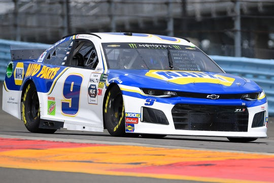 Monster Energy NASCAR Cup Series driver Chase Elliott practices for the Go Bowling at The Glen at Watkins Glen International on Aug. 3, 2019.