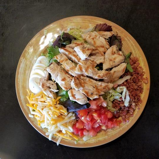 A grilled chicken salad at Zaps Tavern.